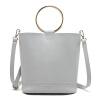 MICOCAH Brand Fashion Women Bucket Bag 2 шт. Металлическое кольцо Кожа PU Роскошные сумки Женские сумки Дизайнерские женские кожаные сумочки G женские сумки