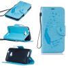 Светло-голубой Перья и птицы Стиль Тиснение Классический откидная крышка с функцией подставки и слот для кредитных карт для HUAWEI Y5 II подставки и кронштейны
