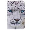 Белый Leopard дизайн PU кожа флип Обложка Кошелек Карты Держатель чехол для SAMSUNG T210 чехол обложка белый флип для samsung s5230