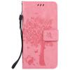 Pink Tree Design PU кожа флип крышку кошелек карты держатель чехол для HUAWEI P9
