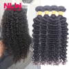 4 Pcs Malaysian Hair Deep Wave Curls Extensions 8A Unprocessed 100% Human Full Hair Weave Bundles Tight Curly Weave Hair Bouncy
