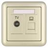 ABB розетка выключатель гнездо панели TV PC Dejing серии Gold AJ325-PG abb розетка компьютерная jung rj 45 выход кат 6 с лицевой панелью abb basic 55 шато черный
