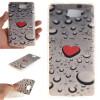 Сердце образный капли воды шаблон мягкой тонкой ТПУ резиновый силиконовый гель Дело Чехол для HUAWEI Y5 II смартфоны huawei y5 2017 grey