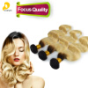 Фото 3pcs Lot Dark Root Blonde Ombre Weave Brazilian Virgin Remy Hair Blonde Weave Bundles Body Wave Two Tone Human Hair Extensions
