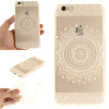 Белый Мандала шаблон Мягкий тонкий резиновый ТПУ Силиконовый чехол Гель для IPHONE 6 Plus