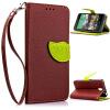 Коричневый Дизайн Кожа PU откидная крышка бумажника карты держатель чехол для HTC Desire 610 розовый дизайн кожа pu откидная крышка бумажника карты держатель чехол для htc one a9