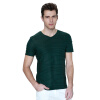 K-Boxing Мужская футболка с коротким рукавом и V-образным вырезом новый весенний бренд моды v образным вырезом slim fit с коротким рукавом футболка мужчины trend повседневная мужская футболка корейские майки