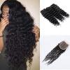Продукты для волос Ccollege Индийская глубокая волна Девичьи волосы с закрытием Ccollege Продукты для волос Индийские волосы Девы с закрытием 3 Связки