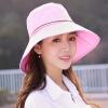 Dusena (DUSENNA) розовый деревянная пряжка солнце шляпа дети лето открытый корейская версия солнцезащитный крем солнцезащитный крем солнцезащитный крем большой складной