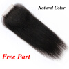 Top Quality Brazilian Virgin Human Straight Hair 4x4 Lace Closure 3 Way Part Bleached Knots Free Middle Three Part Free Shipping 7a malaysian loose wave silk base closure bleached knots virgin malaysian free part silk base closure no tangle