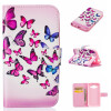 Розовый и голубой бабочки Дизайн Кожа PU откидная крышка бумажника карты держатель чехол для SAMSUNG GALAXY CORE Prime G360 глаз дизайн кожа pu откидная крышка бумажника карты держатель чехол для samsung galaxy core prime g360