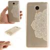 Половина белые цветы шаблон Мягкий тонкий ТПУ Резиновая крышка случая силикона геля для MEIZU Note 3