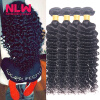 Bouncy Top Quality N.L.W. Products Brazilian Virgin Hair Deep Wave 4 Bundles 8A Unprocessed Free Shipping Full and Thick best new product on sale 30% 750ml brazilian keratin hair treatment hair free shipping