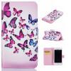 Розовый и голубой бабочки Дизайн Кожа PU откидная крышка бумажника карты держатель чехол для IPHONE 7 светло розовый windbell кожа pu откидная крышка бумажника карты держатель чехол для iphone 7