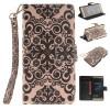 Дворец цветок дизайн искусственная кожа флип кошелек карты держатель чехол для HUAWEI P9