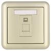 ABB розетка выключатель гнездо панели TV PC Dejing серии Gold AJ325-PG abb переключатель гнездо blank панель dejing серии gold aj504 pg