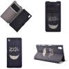 Улыбаясь дизайн зубов PU кожа флип крышку кошелек карты держатель чехол для Sony Xperia Z5 sony xperia st21i купить заднюю крышку в санкт петербурге
