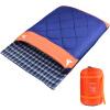 BeiJiLang Двойная пара хлопка Спящая сумка Весна и Зима Зимняя Спящая сумка Открытый кемпинг Взрослый спальный мешок 022-1 Синий