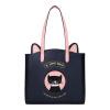 Му рыбы (Muyu) Оригинальная сумка моды личности мультфильма картина мешок плеча мешок большой емкости 30433 Blue Star, который мяу