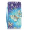 Золотые бабочки Дизайн Кожа PU откидная крышка бумажника карты держатель чехол для IPHONE 5 цветочный дизайн кожа pu откидная крышка бумажника карты держатель чехол для iphone 7g