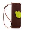 Коричневый Дизайн Кожа PU откидная крышка бумажника карты держатель чехол для Apple iPhone 4G/4S