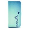 Улыбка Дизайн Кожа PU откидная крышка карточки бумажника держатель чехол для IPHONE 5 слюна ducks дизайн кожа pu откидная крышка карточки бумажника держатель чехол для iphone 5