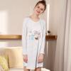 Hodohome домашняя сорочка полосатое хлопковое платье