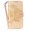 Золотой Череп Дизайн Кожа PU откидная крышка бумажника карты держатель чехол для HUAWEI Y6 II смартфон huawei y6 pro золотой