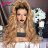 150% Peruvian Virgin Human Hair Glueless Wigs T1b#/27# Lace Front Wigs with Middle Part Long Swiss Lace Human Hair with Baby Hair peruvian glueless lace front human hair