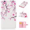 Цветения сливы Дизайн Кожа PU откидная крышка бумажника карты держатель чехол для LG Magna H502