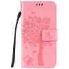 Pink Tree Design PU кожа флип крышку кошелек карты держатель чехол для HUAWEI Y6