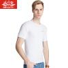 BOSIDENG Мужская футболка BJN78045 Хлопковая футболка Мужская дышащая рубашка Цельная белая XL