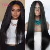 Clymene Hair Lace Передние человеческие волосы Парики Девичьи волосы Необработанные прямые кружева Передние бразильские парики для женщин со средней частью
