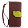 Коричневый Дизайн Кожа PU откидная крышка бумажника карты держатель чехол для Apple iPhone 7 Plus черный дизайн кожа pu откидная крышка бумажника карты держатель чехол для apple iphone 7