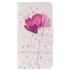 Фиолетовый орхидеи Дизайн PU кожа флип кошелек карты держатель чехол для SAMSUNG Galaxy J3/J3 2016 x play master collar ошейник с надписью master