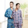 Playboy 4916 Пара пижамы Мужская одежда Кардиган Кардиган Весна и лето с длинными рукавами Мужская пижама Set Pink Lan Gang XXL