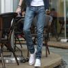 lucassa джинсы мужские простые случайные брюки талия прямые джинсы мужские 3505 синие