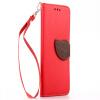 Красный Дизайн Кожа PU откидная крышка бумажника карты держатель чехол для HTC M7/One черный дизайн кожа pu откидная крышка бумажника карты держатель чехол для htc m7 one