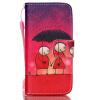 Пара Зонтик Дизайн PU кожаный бумажник держателя карты откидная крышка чехол для SAMSUNG S4MINI пара зонтик дизайн pu кожаный бумажник держателя карты откидная крышка чехол для iphone 6