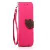 Розовый Дизайн Кожа PU откидная крышка бумажника карты держатель чехол для HTC One M8 розовый дизайн кожа pu откидная крышка бумажника карты держатель чехол для htc one a9
