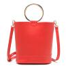 MICOCAH Brand Fashion Women Bucket Bag 2 шт. Металлическое кольцо Кожа PU Роскошные сумки Женские сумки Дизайнерские женские кожаные сумочки G
