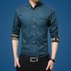 lucassa мужские рубашки воротник рубашки мужские простой случайный с длинными рукавами рубашки мужские рубашки 1730 светло-синий L рубашки vitacci рубашки