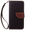 Черный Дизайн Кожа PU откидная крышка бумажника карты держатель чехол для Apple iPod touch 5