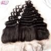 QDKZJ Top Grade 100% человеческие волосы Бразильская кружева для волос из волос Фронтальное закрытие 13X4 «Свободная волна натурального цвета на складе бесплатно Shippin 13x4 100