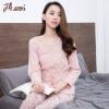 Верхняя одежда Guahua Pajamas Женская хлопка V-образная вышивка с длинными рукавами t80136 розовая печать
