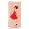 Красный Платье девушки Pattern Мягкий Тонкий TPU Резиновый Силиконовый гель Дело Чехол для HUAWEI Y5 II love перья pattern мягкий тонкий tpu резиновый силиконовый гель чехол для huawei y5 ii