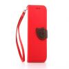 Красный Дизайн Кожа PU откидная крышка бумажника карты держатель чехол для HTC One M8 розовый дизайн кожа pu откидная крышка бумажника карты держатель чехол для htc one a9