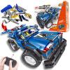 Стартер (Qihui) строительные блоки собраны головоломки электрического автомобиля дистанционного управления USB зарядки детские игрушки режим двойного изменения мальчик подарок молнии дух