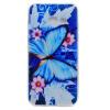 Голубая бабочка шаблон Мягкий чехол тонкий ТПУ резиновый силиконовый гель чехол для SAMSUNG Galaxy A3 2017/A320