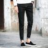 lucassa джинсы мужские случайные штаны талии стрейч джинсы мужские черные 32 810